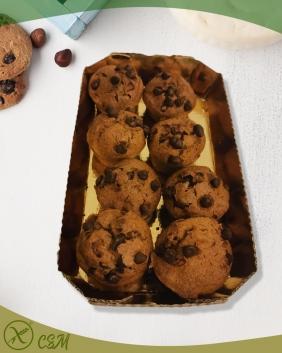 Muffin al cacao con gocce di cioccolato Senza Glutine
