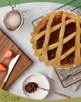 Crostatine ripiene di marmellata alle fragole senza glutine