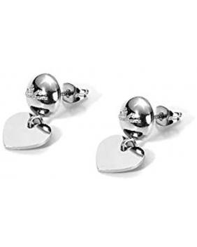 """orecchini con pendente a cuore C.Paciotti linea  """"combo silver"""""""
