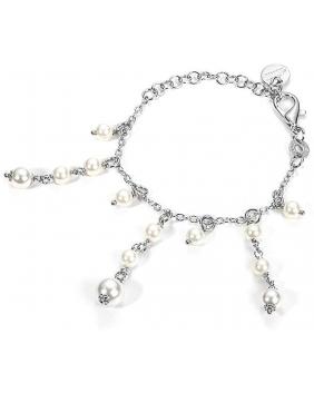 """bracciale con perle pendenti C. Paciotti linea """"silver system"""""""