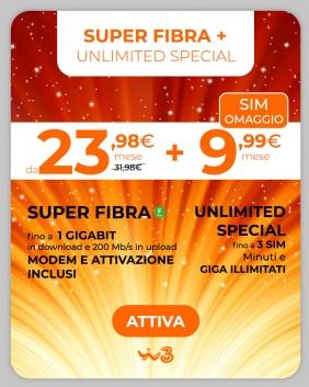 Super Fibra + Unlimited Special