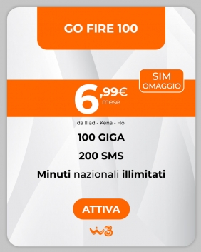 Offerta WindTre Go Fire 100
