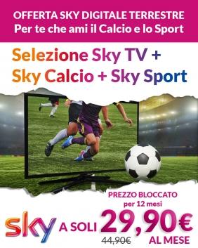 Offerta Sky Digitale Terrestre | Sky TV + Sky Calcio + Sky Sport